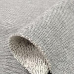 ニット生地 30/10コーマ裏毛 グレー杢 「スウェット、トレーナー向け定番素材」 knit-yamanokko