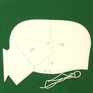 型紙  メンズ・男女兼用 パーカーコンバートキット ニット生地向けカット済みパターン