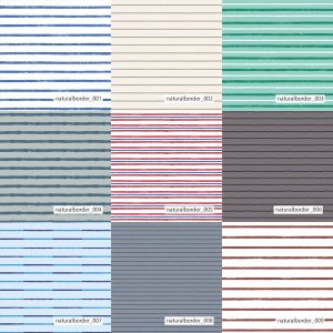 「ナチュラルボーダー100種」抗ウイルスT/Cブロード マットな発色|knit-yamanokko
