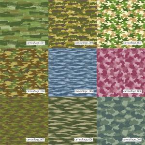 「カモフラ100種」抗ウイルスT/Cブロード マットな発色|knit-yamanokko