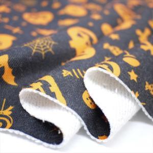 「入稿フルオーダープリント」T/C裏毛(1mカット全面プリント) 表ポリエステル裏ループ綿7/-厚手のしっかり裏毛 ニット生地|knit-yamanokko