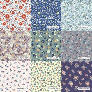 「フラワー100種」吸汗速乾コンフォートセンサー ブライトキング (1mカット全面プリント)ニット生地 ジャージ生地|knit-yamanokko