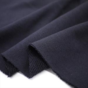 ニット生地 30/10コーマ裏毛 ダークネイビー 「スウェット、トレーナー向け定番素材」 knit-yamanokko
