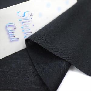 ニット生地 冷感 UV シャインクール40ハイゲージ天竺 ブラック 「犬服、スポーツ、UVケア向け」|knit-yamanokko