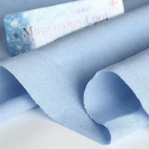 ニット生地 冷感 消臭 ミラキュラス・クール40天竺 サックス 「犬服、クールインナー向け」 knit-yamanokko