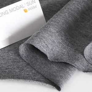ニット生地 UV加工 綿モダール30天竺 チャコールモク「UVケア、トップス、インナー向け」 knit-yamanokko