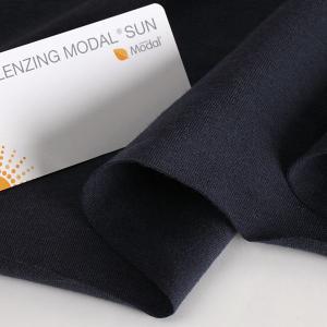 ニット生地 UV加工 綿モダール30天竺 ネイビー「UVケア、トップス、インナー向け」 knit-yamanokko