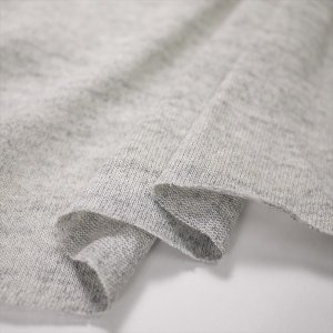 「現品限り」ニット生地 スペック染め 20/1天竺 グレー 「トップス向け」 knit-yamanokko