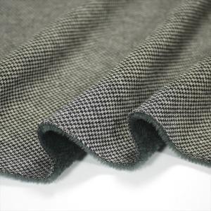 ニット生地 ツイードムートンジャージー グレージュ 暖かいストレッチ ニット|knit-yamanokko