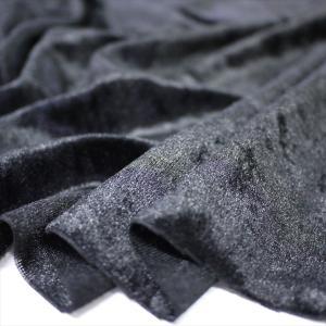 クラッシュベロア ブラック 145cm巾 ニット生地|knit-yamanokko