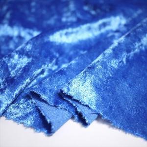 クラッシュベロア スカイブルー 145cm巾 ニット生地|knit-yamanokko