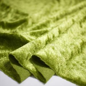 クラッシュベロア グラスグリーン 145cm巾 ニット生地|knit-yamanokko