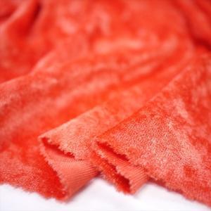 クラッシュベロア オレンジ 145cm巾 ニット生地|knit-yamanokko