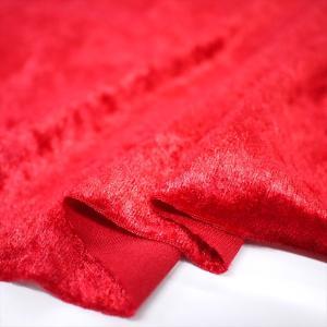 クラッシュベロア レッド 145cm巾 ニット生地