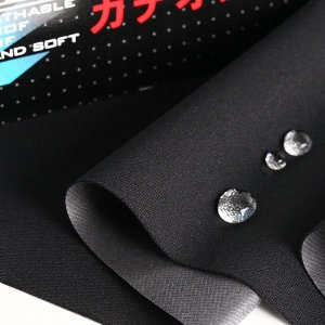 ニット生地 はっ水&透湿防水 ザムザ・マルチストレッチニット ブラック「レインウエア、犬服、衛生グッズ向け」|knit-yamanokko