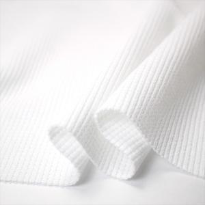UV吸水速乾 ポリコット30/1ワッフル(サーマル) ホワイト ニット生地|knit-yamanokko