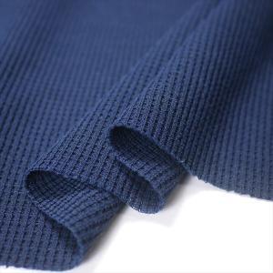 UV吸水速乾 ポリコット30/1ワッフル(サーマル) ネイビー ニット生地|knit-yamanokko