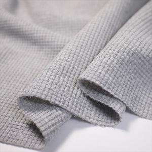 UV吸水速乾 ポリコット30/1ワッフル(サーマル) 杢グレー ニット生地|knit-yamanokko