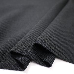 ニット生地 ポリエステルフライス ブラック 「中肉スポーツ系素材の付属向け」|knit-yamanokko