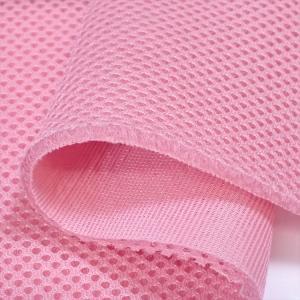 耐久クッション ダブルラッセルメッシュ ピンク 4〜5mm厚ハードタイプ150cm巾 ニット生地 knit-yamanokko