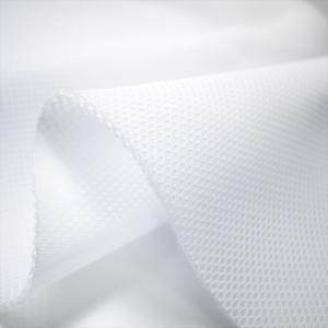 抗菌防臭 ダブルラッセルメッシュ ホワイト ノンホル クッション性 ニット生地|knit-yamanokko