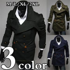 トレンチコート メンズ メルトン ウール コート トレンチコート チェスターコート|knit