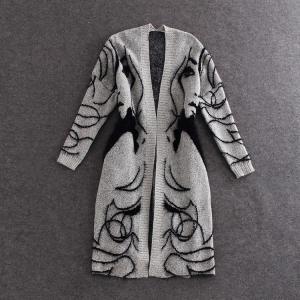 2018秋冬ファッション女性ニットセーターコート長袖ジャケット女性カジュアル生き抜く緩いトップスプルファムカーディガン|knit