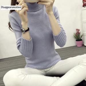 2018高品質レディースタートルネックセータープルオーバーセーター女性の肥厚長袖スリムセーター|knit