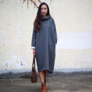 2018新ヴィンテージ女性秋冬フリース緩いプラスサイズ長いスウェット knit