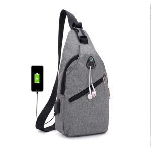 多機能充電器男性胸クロスボディ盗難防止短い旅行水撥脚ウエストバッグ女性ベルトショルダーバッグ knit