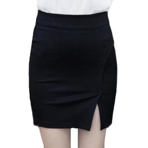 ファッションセクシーなスリム2016夏新しい女性ペンシルスカートハイウエストストレッチ生地分割バックジッパーレディスカートプラスサイズ-5|knit