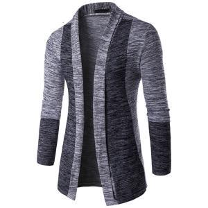 新しい到着男性パッチワークセーターファッション柄デザイン長袖カーディガンローブセータースリムカジュアルセーター|knit