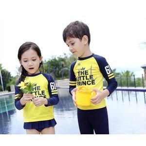 キッズ・ジュニア 女の子 男の子 水着 スイムウェア ロング袖 セパレート スイミング 海水浴 ビーチ ラッシュガード UV 紫外線対策|knit