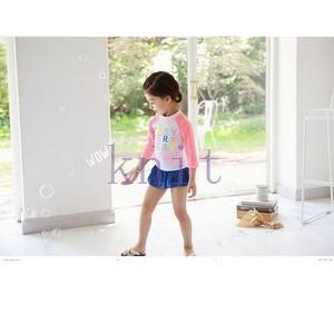 キッズ・ジュニア 女の子 水着 スイムウェア セパレート スイミング 海水浴 ビーチ ラッシュガード UV 紫外線対策 長袖 スカート ラッシュガード|knit