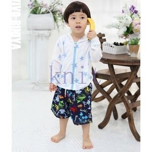 キッズ・ジュニア 女の子 男の子 コート ビーチ 体型カバー ラッシュガード UV 紫外線対策 花柄|knit