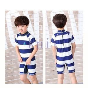 キッズ・ジュニア 男の子 水着 スイムウェア セパレート 半袖 ショットパンツ スイミング 海水浴 ビーチ ラッシュガード|knit