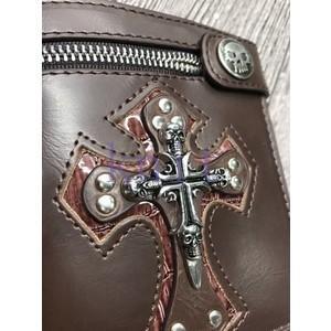 財布 メンズ バッグ 男性用 スケルトン 十字架 パンク ショートGBB199|knit