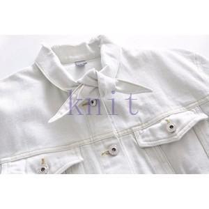 シャツ レディース 新品 リボン飾り レジャー 新品 春秋 上着 可愛いGNZ-161|knit