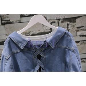 シャツ レディース 新品 編み上げ 春秋 リボン 上着 可愛いGNZ-183|knit