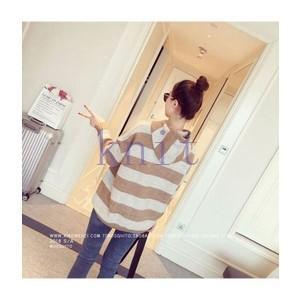 パーカー レディース ストライプ 新品 春 韓国風 ファッションGNZ-217|knit