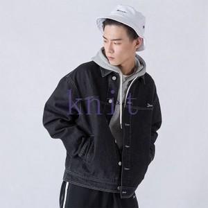 ジャケット デニムジャケット アウター メンズ 秋物 新作 通勤 カジュアル 長袖 おしゃれ  ゆったりJNVQ-AL108|knit