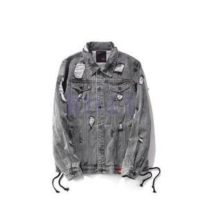 ジャケット デニムジャケット アウター メンズ 秋物 新作 通勤 カジュアル 長袖 おしゃれ  ゆったり ダメージデニムJNVQ-AL125|knit