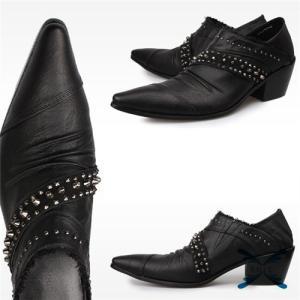 ウエスタンブーツ 革靴 メンズシューズ 新作 ビジネスシューズ ストレートチップ 歩きやすい メンズビジネス オシャレ|knit