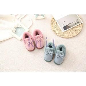 ベビーシューズ 子供靴 ルームシューズ スリッパ キッズ 室内履き ボアスリッパ 女の子 男の子 もこもこ あったか 冬 可愛いJTXQ3-AL292|knit