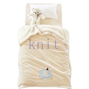 ブランケット 毛布 ベビー 子供用 キッズ用品 ボア ひさ掛け ふわふわ もこもこ あったか 暖かい 可愛いJYED-AL05|knit
