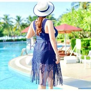マタニティ 水着 ワンピース型 レディース ストレッチ スイムウェア 妊婦水着 ママ水着 産前 夏 大きいサイズ スイミング 綺麗JYYC-AL453|knit
