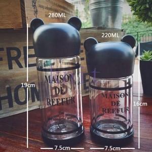水筒 ボトル プラスチックボトル 直飲み 韓国風 オシャレ 軽い 便利 可愛いJZAH1-AL372 knit