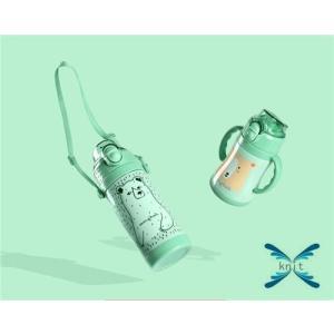 水筒 子供用 魔法瓶 ベビー キッズ ボトル 直飲み 保温 手提げ可能 通園 通学 ストロー付き 可愛い キャラクター|knit