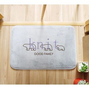 カーペット マット ラグマット 洗える すべりにくい加工 オシャレ 可愛い 浴室JZAHQ-AL370 knit
