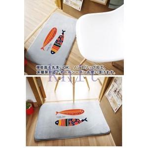 カーペット マット ラグマット 洗える すべりにくい加工 オシャレ 可愛い 浴室JZAHQ-AL371 knit